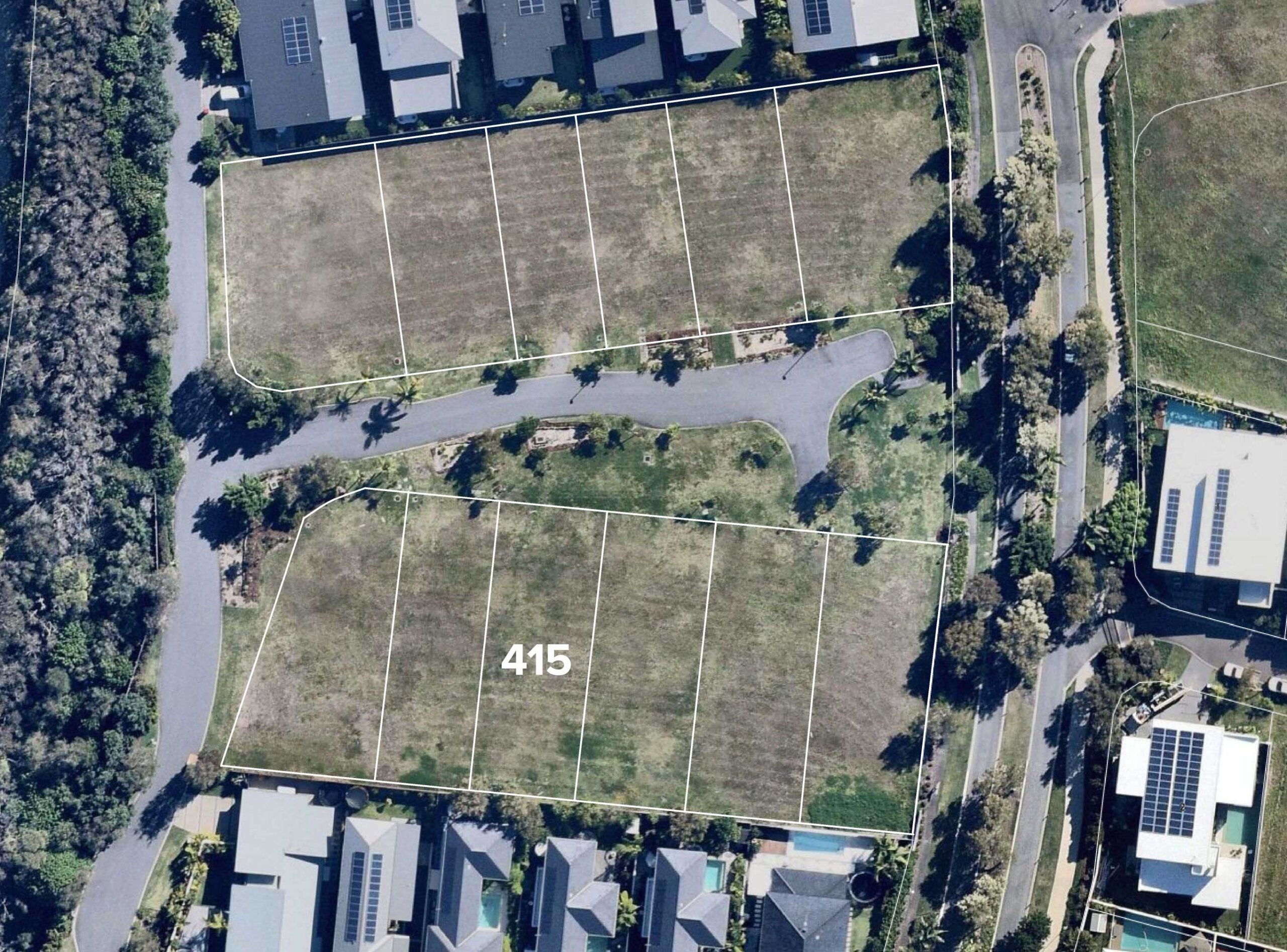 Aerial view of Lot 415