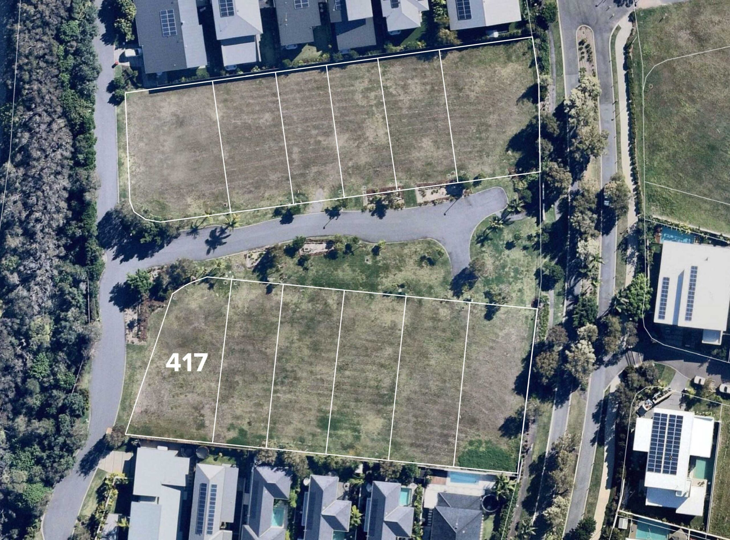 Aerial view of Lot 417